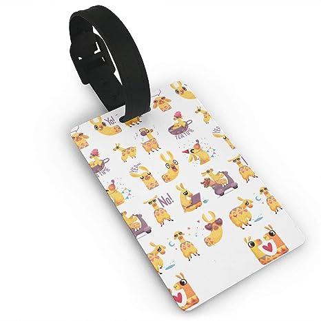 Etiqueta de equipaje Llama Emoticon viaje equipaje ID maleta etiquetas accesorios