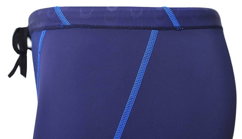 Vocni Men's Swim Trunk Competition Rapid Swim Splice Solid Jammer Swim Suit Blue US XL - Asian Tag 4XL(Waist:39''-44'')