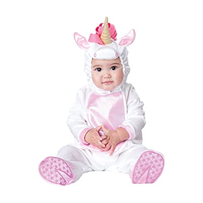 InCharacter Costumes Baby Girls' Magical Unicorn Costume, White/Pink, Small: Clothing