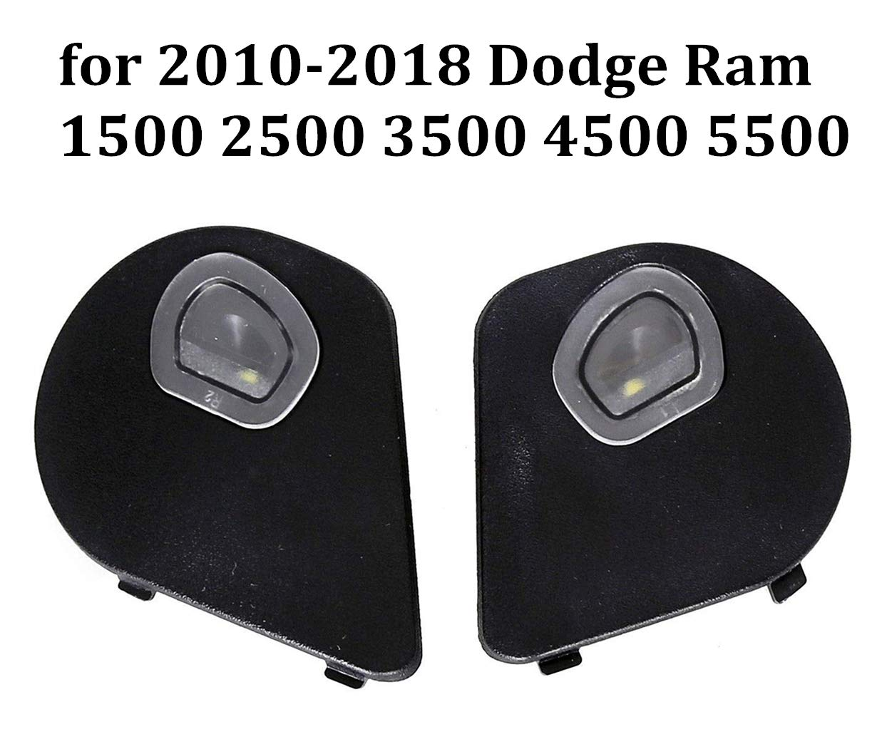 Driver and Passenger Sides Mirror Puddle Lights Lamps for 2010-2018 Dodge Ram 1500 2500 3500 4500 5500,1 Pair