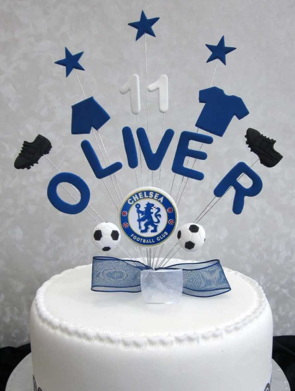 Awesome Personalised Chelsea Football Birthday Cake Topper Any Name Or Personalised Birthday Cards Veneteletsinfo