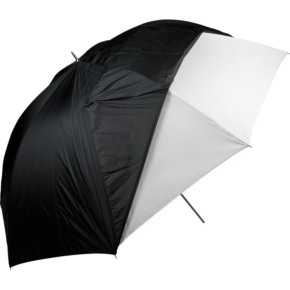 Westcott 2021 60-Inch Optical White Satin with Removable Black Cover Umbrella