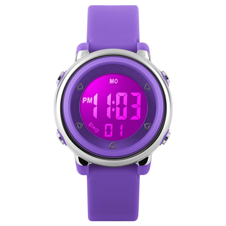 My-Watch Girls Digital Watch Sport Waterproof Kids Outdoor Stopwatch LED Luminescent Wrist Watches by SEEWTA