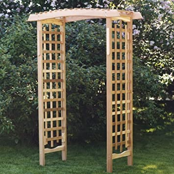 Amazoncom All Things Cedar GA87U Garden Arbor Patio Lawn