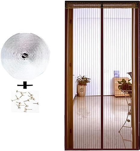 Cortina Mosquitera Puerta Corredera,Manos Libres Ventilación Mosquitera magnética para puerta Contra Insectos Mosquitos Cortina Mosquitera para Exterior/Mosquitera puerta Enrollable,A,95x195(37x77in): Amazon.es: Hogar