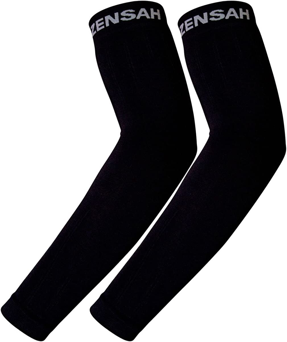 Zensah Compression Arm Sleeves Sun Thermal Regulating sleeve for Men and Women UV protection