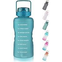 FCSDETAIL 3,78L Sport Waterfles met Motiverende Tijdmarkering, Lekvrij, BPA-vrij Grote Drinkfles met Staw voor Fitness…