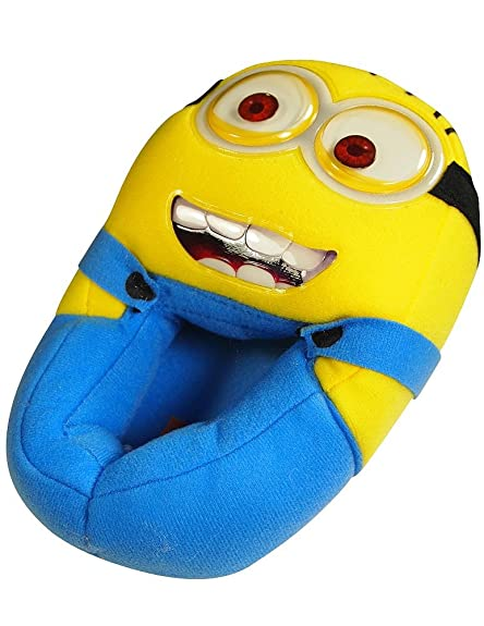 Despicable Me - Mens Despicable Me Slippers, Yellow, Blue 38659-L9-10