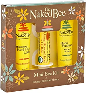 product image for The Naked Bee Orange Blossom Honey Bee Hand & Body Lotion, Lip Balm, and Hand Sanitizer 3 Piece Kit