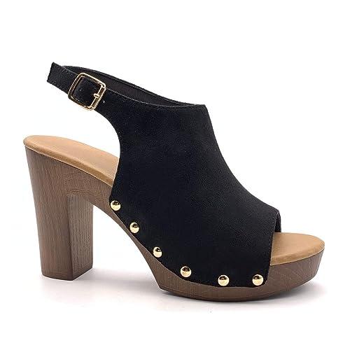 sandales talons hauts bois