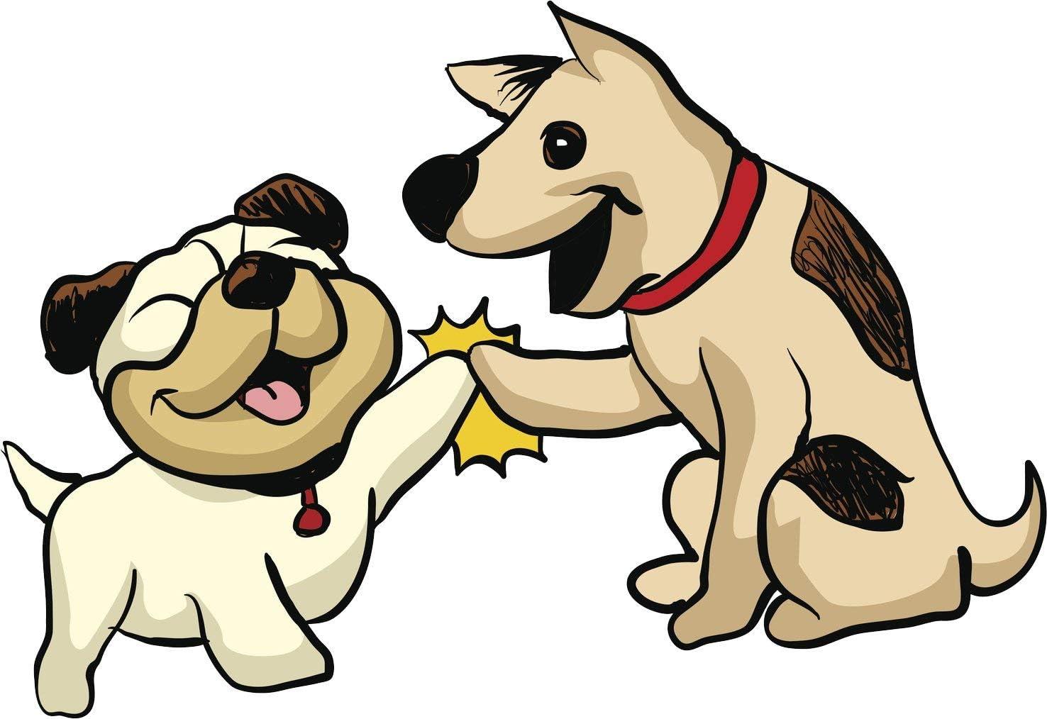 Amazon.com: EW Designs Happy High Five Bulldog Shepherd Puppy Dog ...