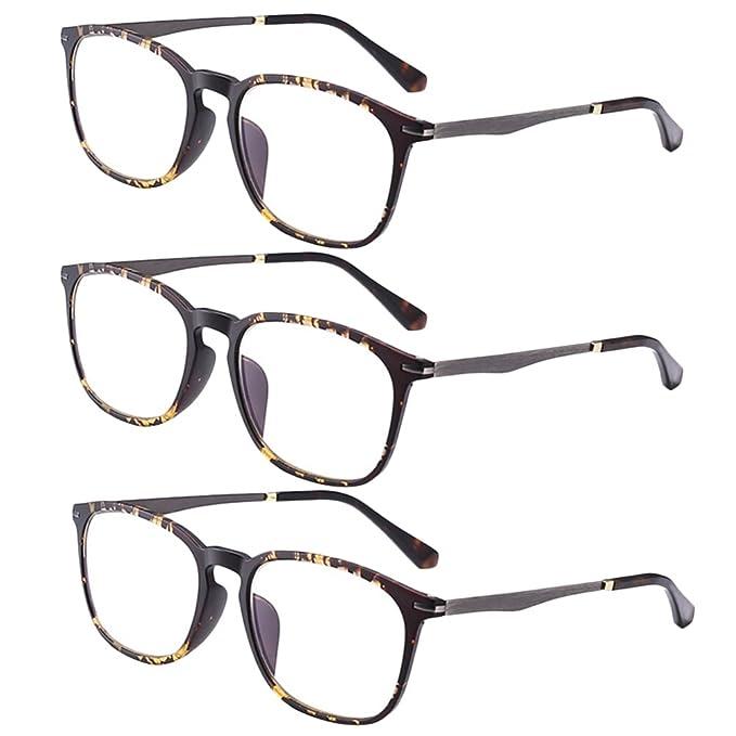 Zhuhaitf Retro Eyeglasses with Case Men and Women Unisex Glasses for Reading - Occhiali da Vista Lettura Presbiopia Choose Your Chiaro Magnification GHqNu
