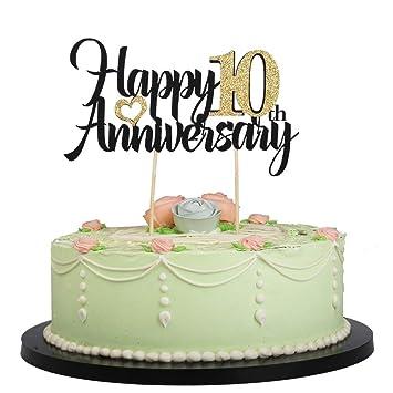 Amazon.com: LVEUD - Decoración para tarta de cumpleaños con ...