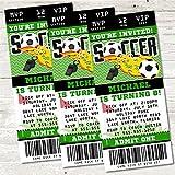 Soccer Birthday Party Ticket Invitations, Soccer Birthday Party Decor, Soccer Party Supplies, Soccer Invitations