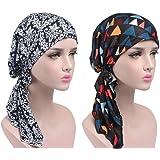 EINSKEY Turbantes para Mujer, 2PCs Pañuelos Cabeza Delgado de Verano para Cancer, Oncologicos,