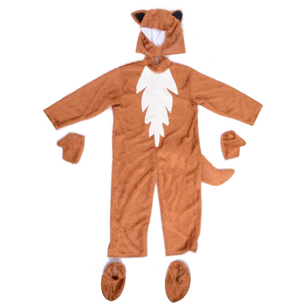 SaveStore s Fox Costume Cute Animal Onesies What The Fox Say Halloween Fancy Dress Furry Jumpsuit Pamajas with Hood Gloves Outfit