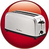 Moulinex LS330D11 4slice(s) 1400W Acero inoxidable - Tostador (4 slice(s), Acero inoxidable, Acero inoxidable, Botones, Giratorio, 1400 W)