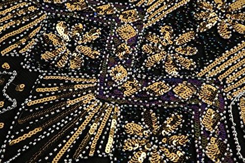 de08237f132d Metme Women s 1920s V Neck Beaded Fringed Gatsby Theme Flapper Dress for  Prom
