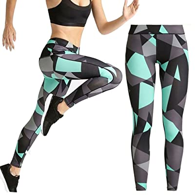 GZ-VMASS Yoga Leggings Digital Printed Pants High Waisted Tights Women Sports Wear For Gym, Running or Workout