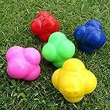 Beautyrain 1Pc Health Reaction Balls Agility Reflex Training Cricket Exercise Aid Color Random