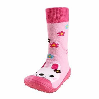YanHoo Zapatos para niños Bebé Dibujos Animados Piso de algodón Calcetines Antideslizantes Suelas de Goma Zapatos de niño Zapatos de Goma Suave Zapatilla de ...
