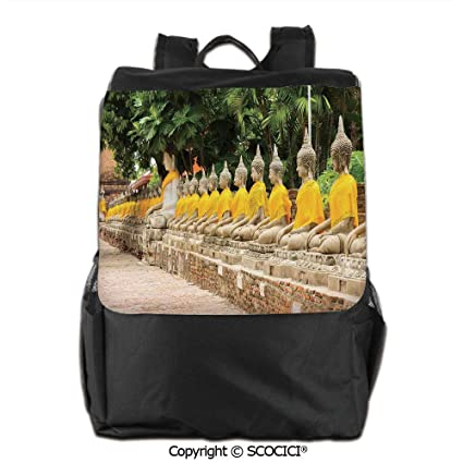 Amazon com: Shoulders Backpack,Picture of Religious Statues in