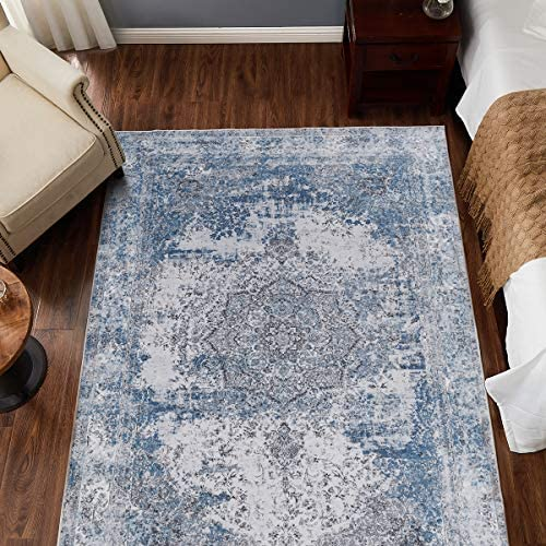 jinchan Blue Vintage Traditional Area Rug