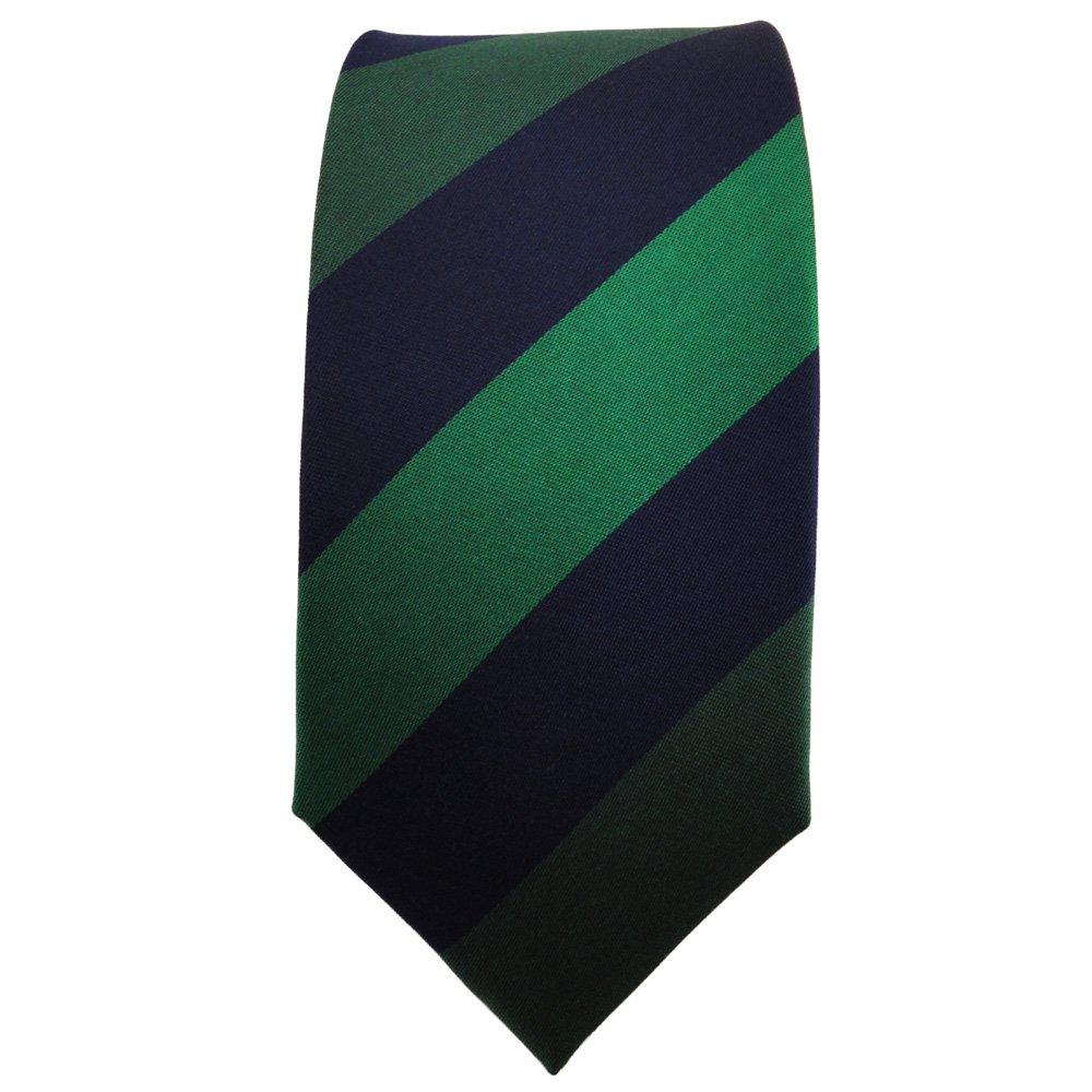 TigerTie - corbata de seda estrecha - verde verde oscuro azul ...