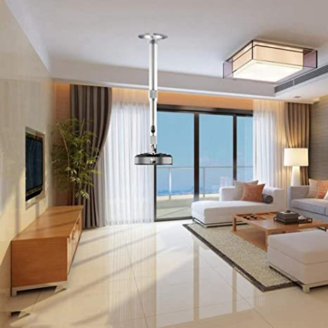 Staffa da Parete Regolabile Staffa da Sospensione Supporto per Montaggio a soffitto Cilindro a soffitto 100-200 cm Staffa da Parete per proiettore