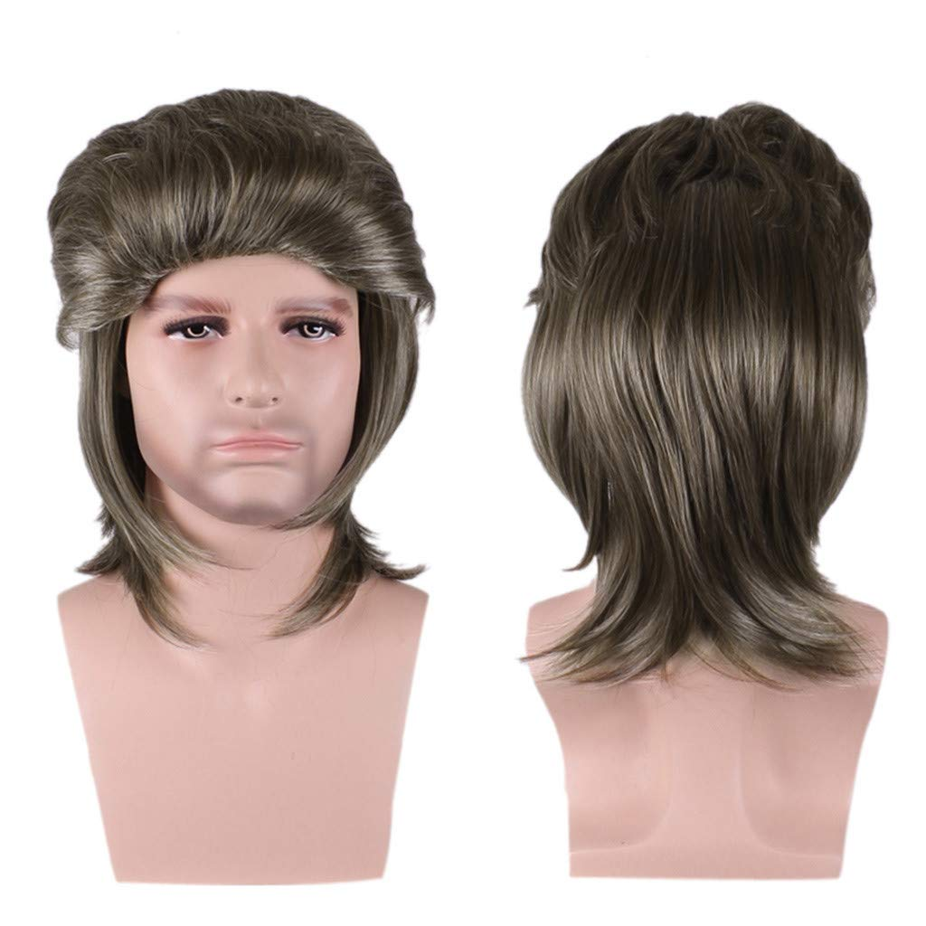 Wigs For Black Women 2019 Men Fashion Brown Short Hair Wig Perfect Carnivals Party Cosplay Festival by BOLUOYI (Image #2)