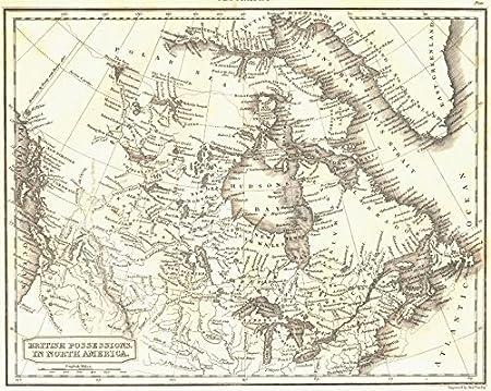 1830 Us Map.British North America Shows British Columbia As Us Territory 1830
