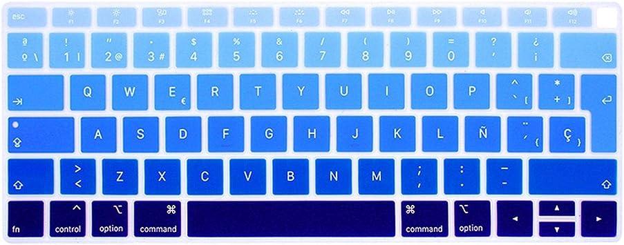 EU Intro Español Chile Teclado Funda Protectora para MacBook Air 13 Teclado Funda Española Modelo A1932 Silicona Protectora Película: Amazon.es: Electrónica