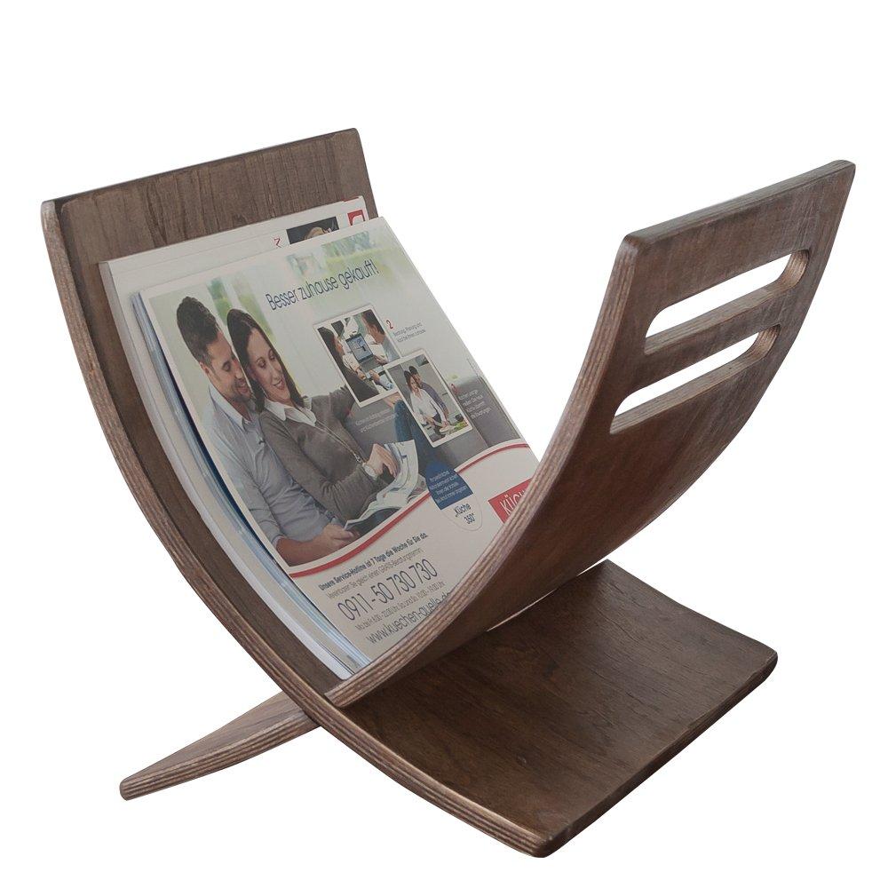 Homestyle4u 965 Holz Braun 30 x 29 x 36 cm Zeitungsst/änder Modern