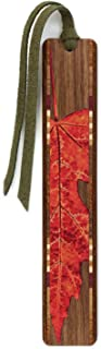 product image for Red Maple Leaf, Wooden Bookmark with Suede Tassel - Search B07WFY7VP2 for Personalized Version
