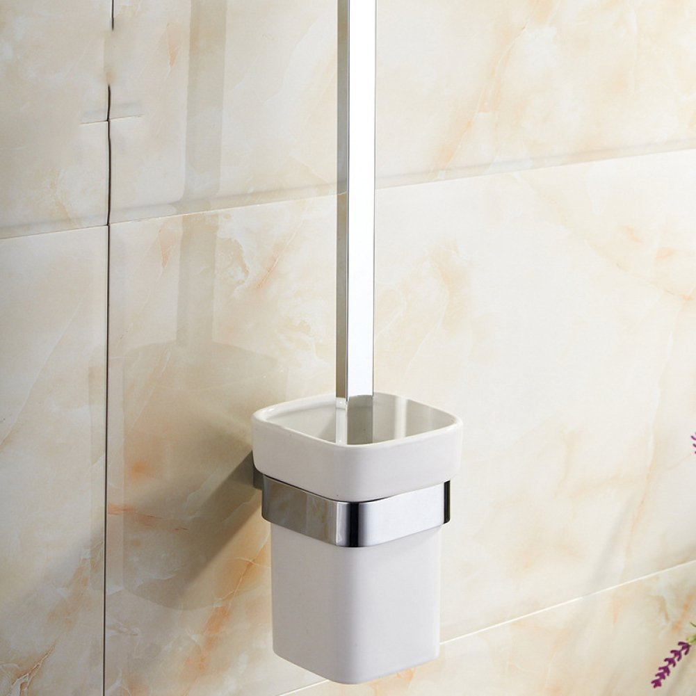 well-wreapped Chrome Wall Concise Brush Square Wc Bathroom Set ...