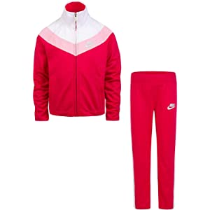 021505b1963 Nike Little Girls` Therma-Fit Full Zip Hoodie   Jogging Pants 2 Piece Set