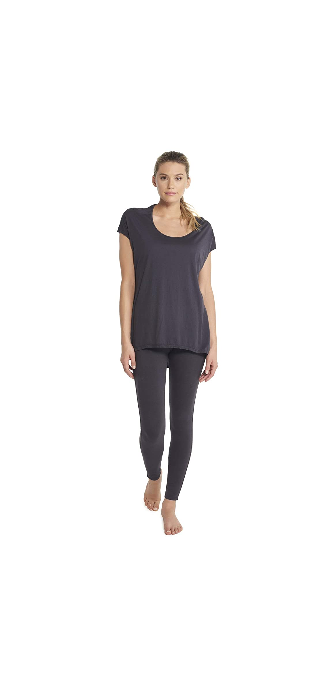 Capped Sleeve Tunic T-shirt For Women, Loose Fit