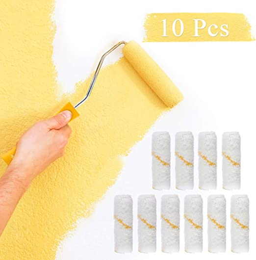 """4inch Mini Rollers Paint Roller Covers 1//2/"""" Nap Durable Roller Brush Refill NEW"""