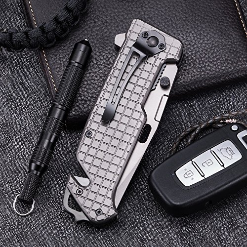 Grand Way Tanto Spring Assisted Pocket Knife - Pocket Folding Knife - Military Style - Boy Scouts Knife - Tactical Knife - Good for Camping, Indoor and Outdoor Activities FL 13069 by Grand Way (Image #5)