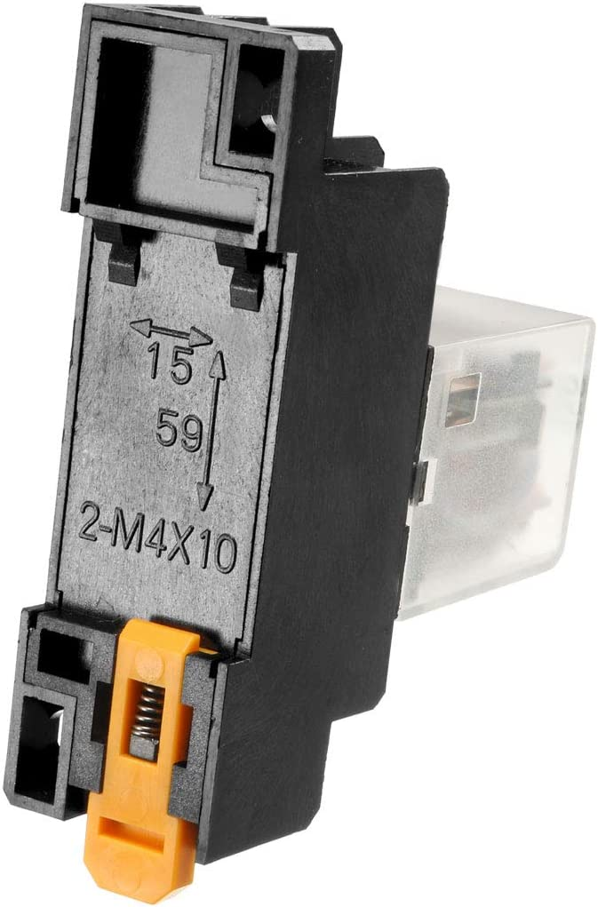 Socket Base sourcing map DC12V Coil Green Indicator Light 14 Pin 4P4T Electromagnetic General Purpose Power Relay