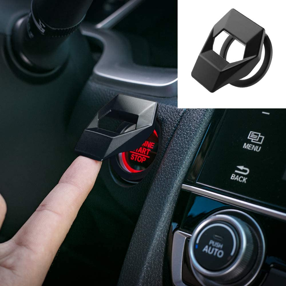 Car Engine Start Stop Push Button Cover Ring For Honda Civic 10th ...