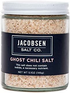 product image for Jacobsen Salt Co. Specialty Sea Salt for Fancy Gourmet Cooking, Infused Sea Salt, Ghost Chili Flavored, 5.1 Ounce