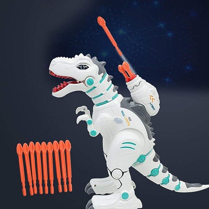 Jack Royal RC Robot Dinosaurs T-Rex Dinobot Toy, Robot Dinosaur Remote Control Toys for Kids - Multicolor