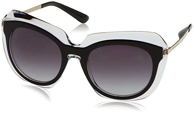 0166d6ef75 Dolce & Gabbana Women's DG 4282 675/8G Sunglasses, Black/Transparent/Grey