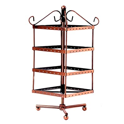 Buy Copper Tone Metal Rotating Revolving Earring Jewelry Display Mesmerizing Revolving Jewelry Display Stand