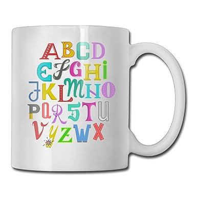 Amazoncojp カラフル アルファベット おしゃれ マグカップ カップ