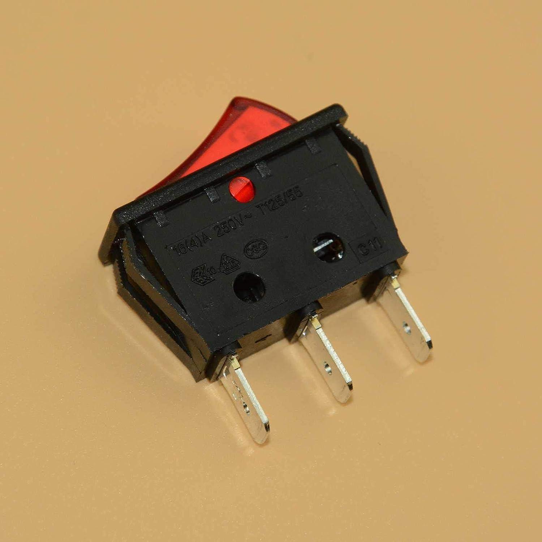 FidgetFidget Switch Red Illuminated Rocker 20 A 16 A Canal RH Series Replace Zing Ear ZE-235L