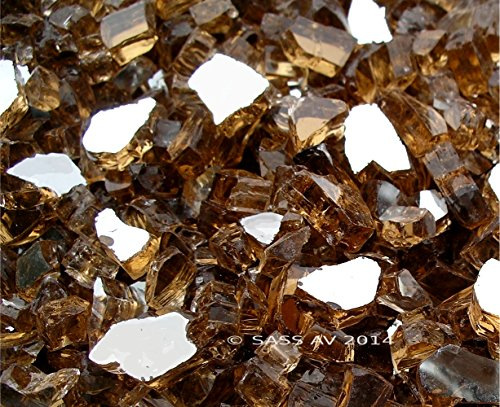 Cheap Fireglass Fireplace Fire Pit Glass, ~1/4″ Copper Reflective, 100 LBS