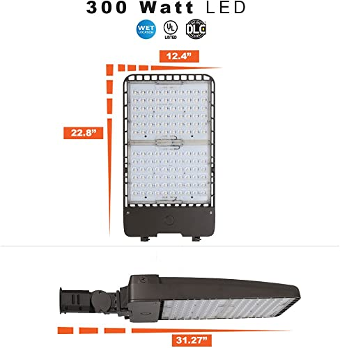 300 Watt LED Parking Lot Area Light 5000K Color Temperature with Slipfitter
