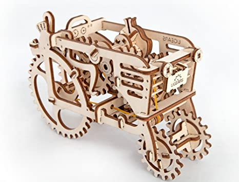 STEAM Line Toys UGears Models 3-D Wooden Puzzle - Mechanical Tractor